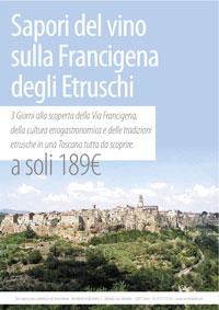 Via Francigena - I Sapori del vino sulla Francigena degli Etruschi