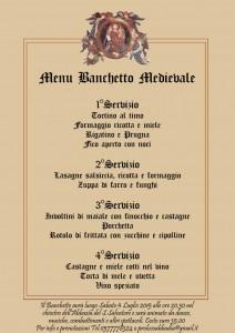 Menu del Banchetto Medievale